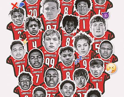 Louisville Football - 2021 Recruiting Graphics