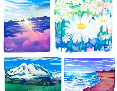 Landscape/nature study sketches