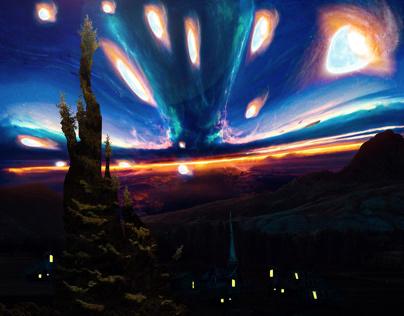 Night starry space Van Gogh
