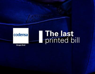 The Last Printed Bill - Codensa
