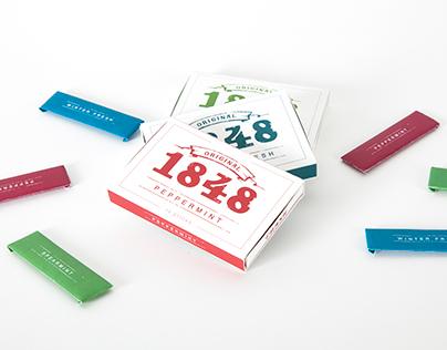 1848 Gum Package Design