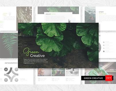 GREEN CREATIVE POWERPOINT TEMPLATE