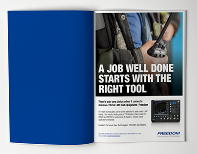 Freedom Ad for Mission Critical Magazine