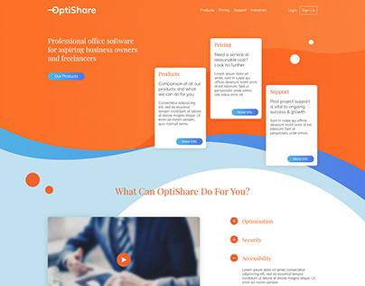 OptiShare Website Design