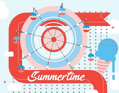 Winter and Summer- Seasonal Illustrations