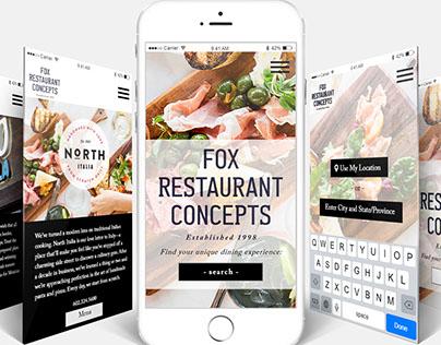 App Mockup: Fox Restaurant Concepts