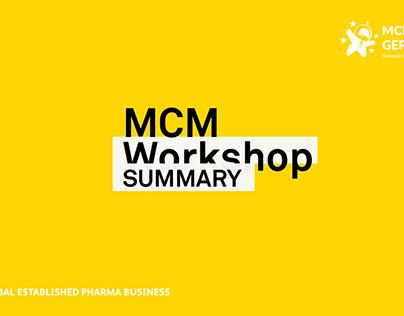 Pfizer MCM Workshop