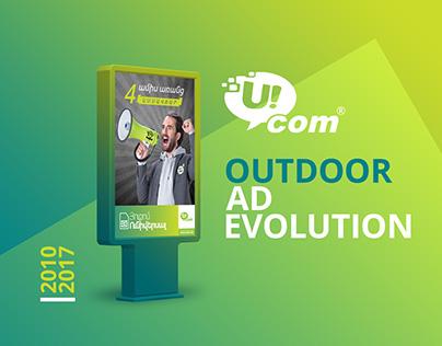 Ucom Outdoor Ad Evolution