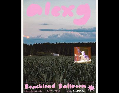 alex g tour poster