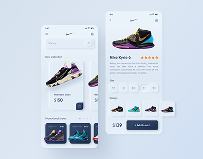 Nike Mobile App concepts. Neumorphism