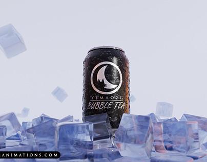 3D Animation - Canned Bubble Tea