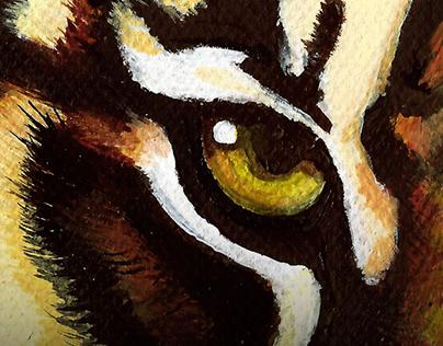 TIGER IN ACRYLIC