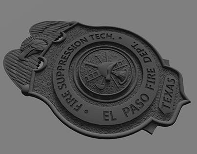 Fire Suppression Badge | Texas