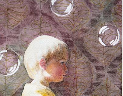 Bubbles. Watercolor.