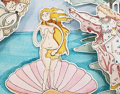 Birth of Venus, 3D 1, project 1