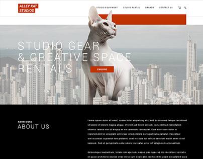 Alley Kat Studios - Website UI/UX Design
