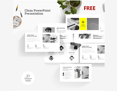 FREE Clean PowerPoint Presentation