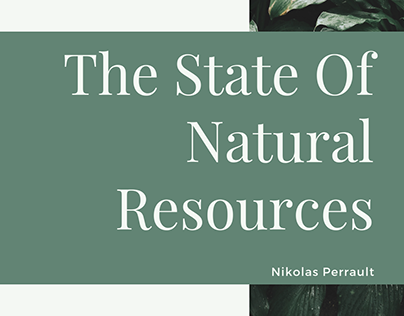 The State Of Natural Resources