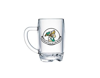 Beer Glass Label Design