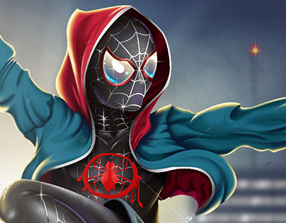 Spiderman into the spider verse - fan art