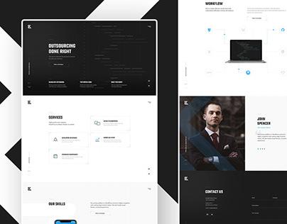 KraftDevShop. One-page Website Design.
