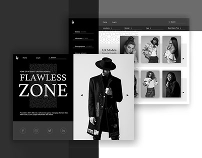 Flawless Zone - A model agency platform