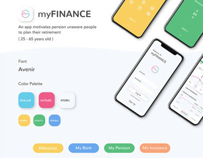 Short term project / Pension plan app - myFIANACE
