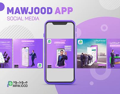 Mawjood App/Social Media
