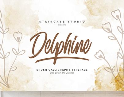 Delphine Brush Calligraphy Typeface