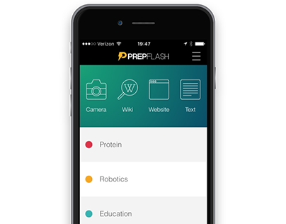 PrepFlash UI/UX Design