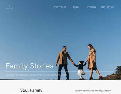 Photography Landing Page for a Family Photographer