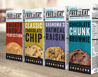 Cybele's Free To Eat Cookies (Unused Packaging Concept)
