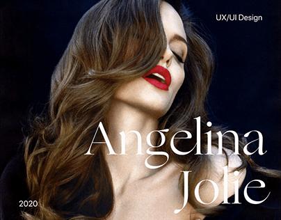 Angelina Jolie's Personal Website Concept