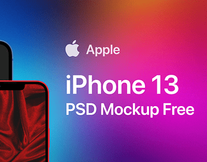 iPhone 13 Mockup PSD Free Download