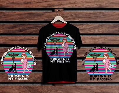 Nursing t shirt design