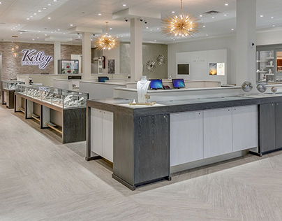 Interior Design: Kelley Jewelers by Leslie McGwire