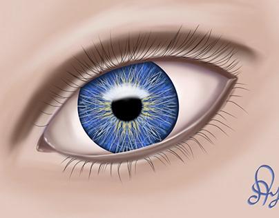 Практика рисования глаза