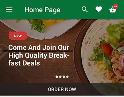 Restaurant Mobile App UI UX