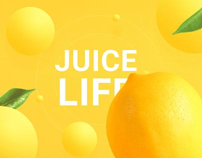"""Landing Page для здоровых напитков """"Juice Life"""""""