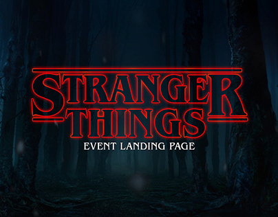 Stranger Things | Event Landing Page