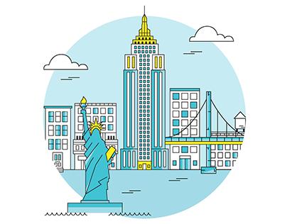 New York Inspired Illustration