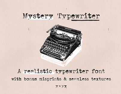 Mystery Typewriter retro vintage font