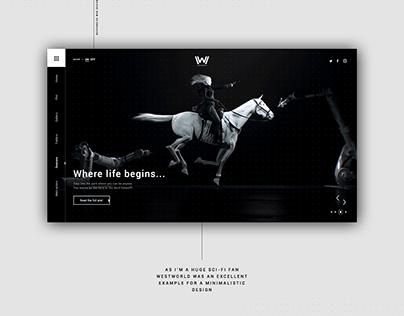 Westworld Website Design