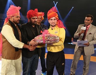 Kartikeya Sharma at Pro Wrestling League Season 2