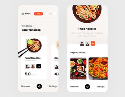 Food Finder App Design
