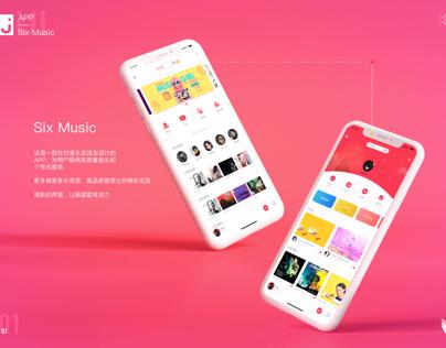Six Music 概念APP iphone X