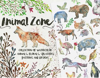 Animal Zone - watercolor animals