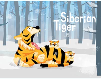 Siberian Tiger Graphic Art