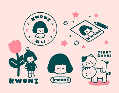 Kwoni's Logo & illustrations