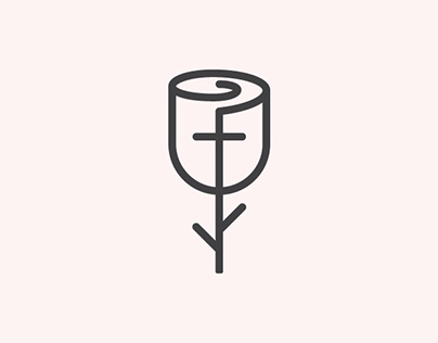 Roseline logo design